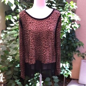 Michael Kors Leopard Blouse XL